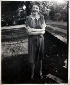 Margaret at the old Rambo home in Blakely, Georgia