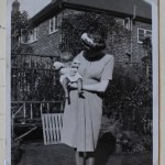 Margaret with baby Rosamund in England