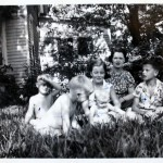 Margaret's sister-in-law Ellen in Georgia, with her children and nephew