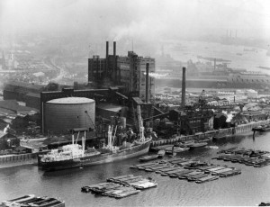 45. The Plaistow Wharf Refinery, c. 1950