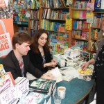 Duncan and Nuala signing books